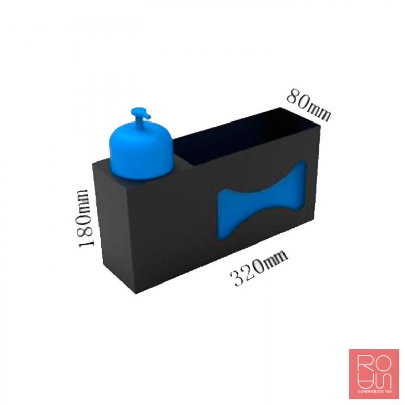 Dispensador de paret per gel i guants per la COVID-19