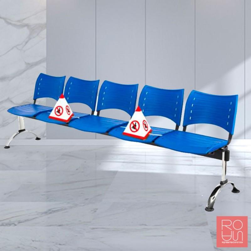 Bloquejador de seients per sales d'espera anti covid-19