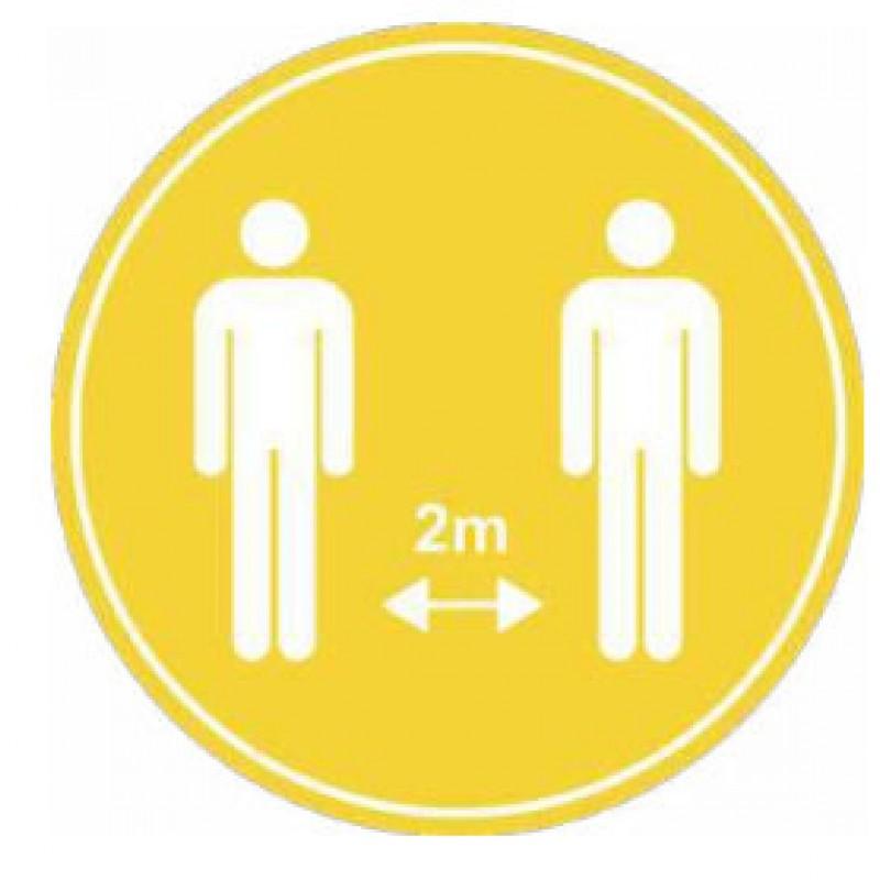 Vinils de distancia de seguretat entre persones per a la COVID-19